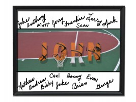 Framed Basketball Print with Team Signatures
